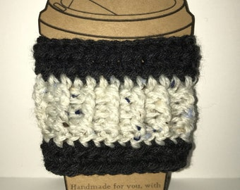 Coffee cozy,handmade crochet coffee cozy