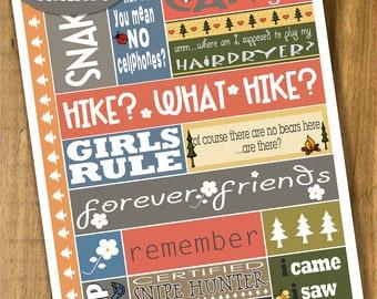 HeartGramz Doodle Art - Printable Camp Stickers - Sheet 1