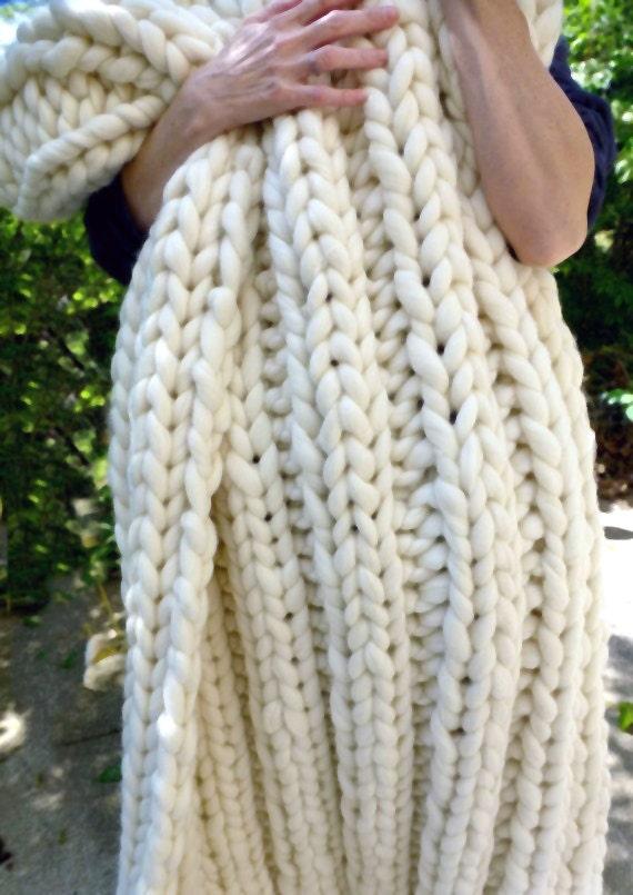Super Chunky Blanket, Pure Merino, Super Chunky Throw, Merino Wool, SMOOSH,