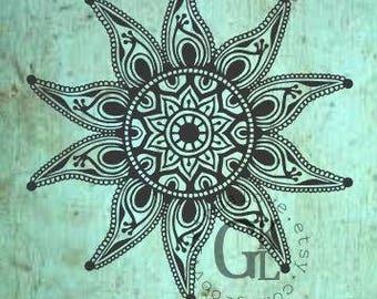 Starfish Mandala Design Instant Download for Electronic Cutters silhouette cricut vinyl digital decal hippie boho chic t shirt heat transfer