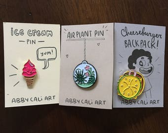 Enamel Pin Set of 3