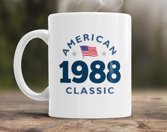 30th Birthday, 1988 Birthday, 30th Birthday Gift, 30th Birthday Idea, American Classic 1988, 30th Birthday Present for the lucky 30 year old
