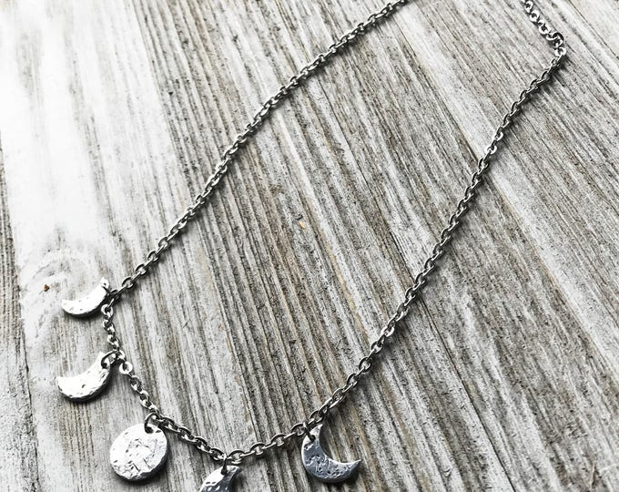 Moon Dangle Necklace