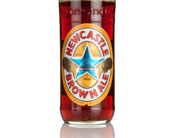 Upcycled Newcastle Brown Ale Bottle Glass - Handcrafted In Devon