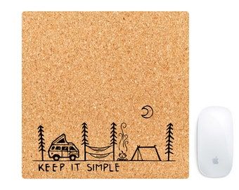 MOUSE PAD Made with real cork wood - Mousepad - Keep it Simple