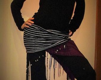 striped winter set for dancers in warm cotton: kneepads,sleeves,waist warmer/short skirt/miniskirt,scaldafianchi per danza,minigonna