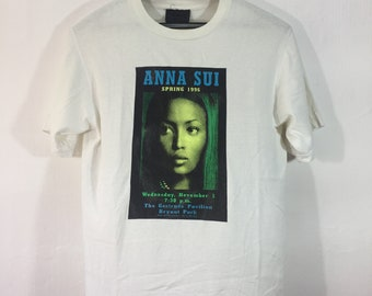 vintage Anna Sui Spring 1996 Naomi Campbell Made in USA Shirt