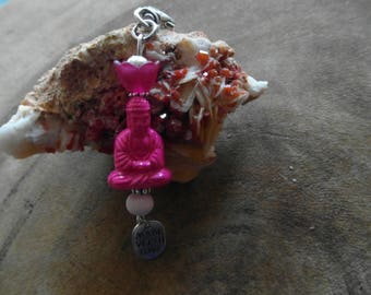 Comfort and or Geluksbuddha as keychain with charm