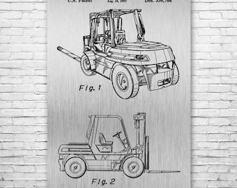 Forklift Poster Art Print, Warehouse Poster, Pallet, Fork Lift, Truck, Warehouse, Industrial, Gift, Poster Print, Wall Art, Home Decor