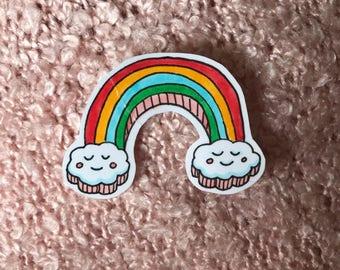 cute hand-drawn rainbow sticker