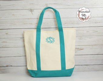 New!!! Monogrammed Comfort Color,  Heavy Duty Canvas Beach Bag, Personalized Tote