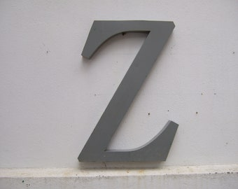 Huge Vintage Metal Letter Z  Industrial Lettering . Display Letter. Large Size