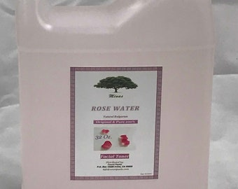 ROSE WATER Skin Facial Cleanser 32 Oz   Bulgarian Floral Water  Hydrosol toner