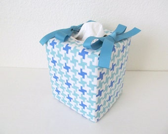 Tissue Box Cover/Blue Cross