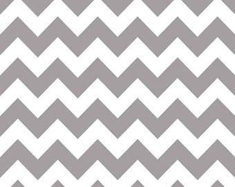 Gray Chevron Fabric - Riley Blake Designs - Fabric By-Yard-Cut