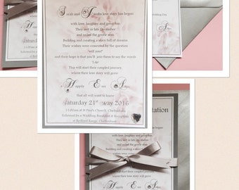 Personalised 'Love Story' Wedding Invitations and Essentials