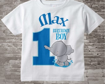 Personalized FIrst Birthday Elephant Tee Shirt or Onesie, 1st Birthday Elephant tee, Safari Theme, Any Age 03182012e