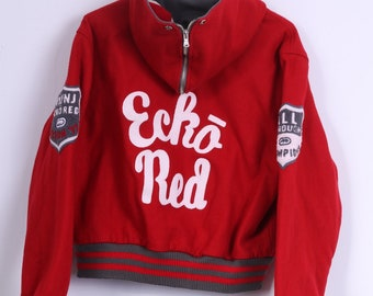 Ecko Womens XL Jacket Red Bomber Padded Wool
