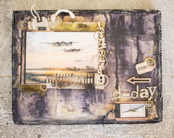 D-Day Mixed media canvas