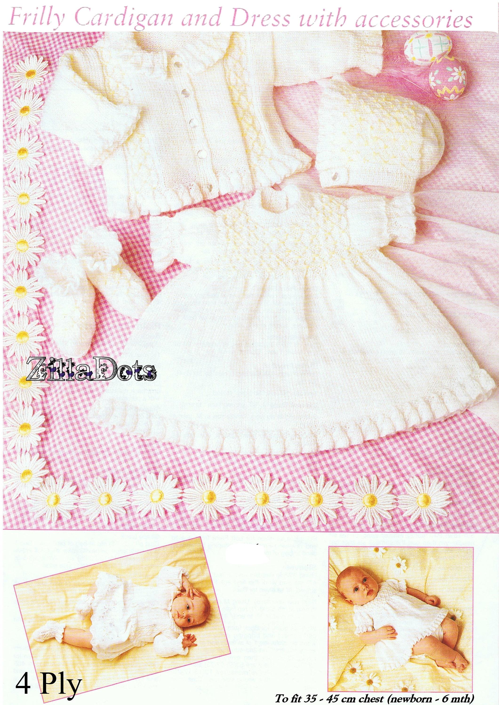 1d005849e63f Knitting Pattern - Baby - Frilly Cardigan