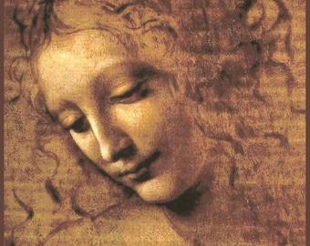 Leonardo da Vinci ~  La Scapigliata ~ Head of Woman ~ Fine Art Giclee Print - Italian Renaissance ~ Wall Art Classic