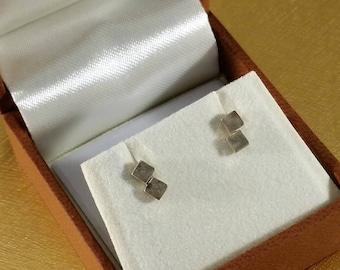 Earrings Studs Silver 925 Quardrate rar SO328