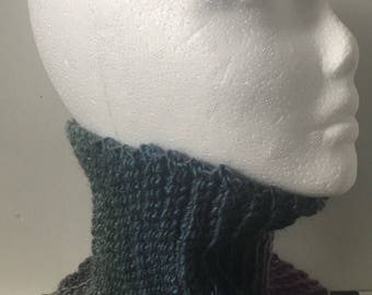 Purple and Grey Snood