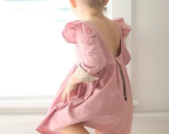 The Isabella Dress - Girls long sleeved dress - toddler dress - winter dress - kids dress - girls dress - long sleeves - sleeves