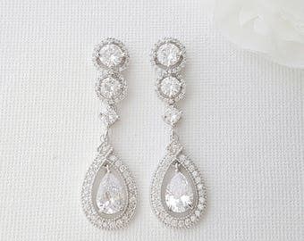 Big bridal earrings Etsy
