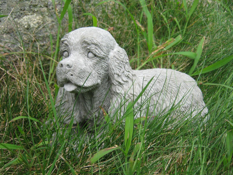 Spaniel Dog Statue Concrete Spaniel Cement Statues Figures