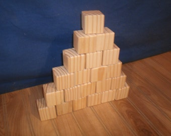 "40 unfinished wood blocks, 1 1/2"" unfinished wooden blocks, baby blocks, wooden baby blocks, toy wooden blocks, craft blocks"