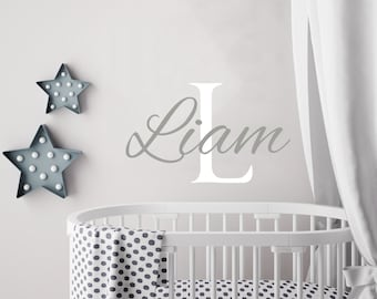 Personalized Boy Name Wall Decal Boys Name Decals Nursery Decor Baby Boy Wall Decal Name Decal Boys Room Decor Custom Name Sticker kp8  sc 1 st  Etsy & Baby boy decal | Etsy