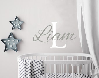 Personalized Boy Name Wall Decal Boys Name Decals Nursery Decor Baby Boy  Wall Decal Name Decal Boys Room Decor Custom Name Sticker Kp8