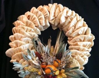 Autumn Corn Husk Wreath