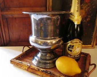 Newport Gorham Silverplate Wine Cooler, Champagne Bucket, Wedding Decor, Vintage Silver Wine Bottle Cooler
