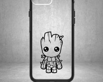 Baby Groot Decal, Phone Cover, Baby Groot, Guardians of the Galaxy, Baby Groot Sticker