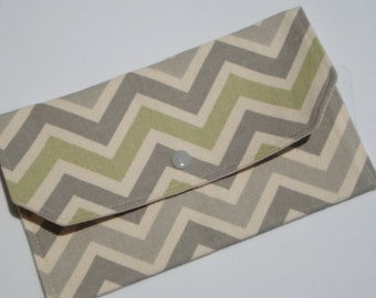 Coupon / Receipt / Cash Budget Organizer Clutch Reed Chevron / Zig Zag