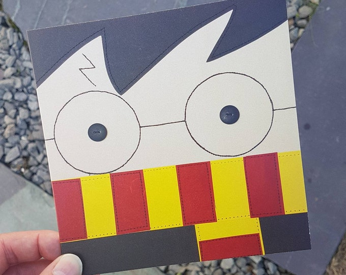"""Harry Potter Greeting Card with Kraft Envelope (6"""" square) - BIRTHDAY/ ANY OCCASION"""