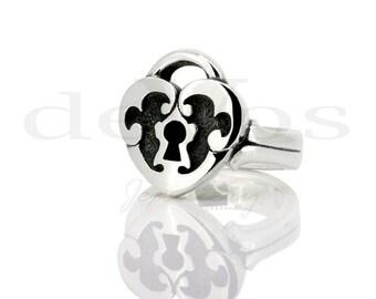 Heart Padlock Ring