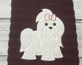 Hanging Kitchen Towel-Appliqued Dog
