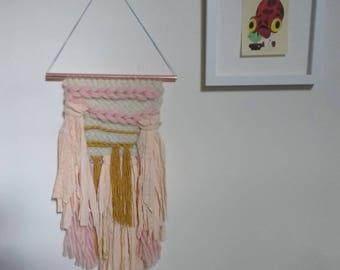 Handmade woven wall hanging