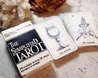 Vintage Tarot - The Simplified Tarot First Edition 1984 Tarot Fortune Telling Divination Deck - Out of Print