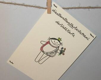 Postkarte für die Mutter, Mami, Mama, Muttertag