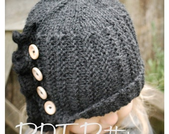Knitting PATTERN-The Paisley Cloche' (Toddler, Child, Adult sizes)