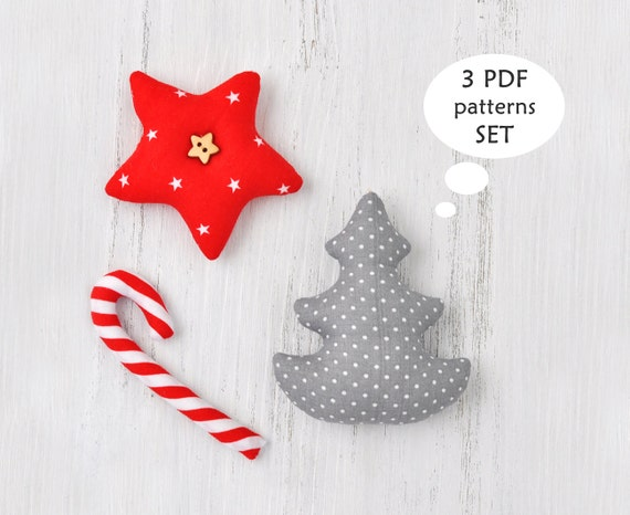 Christmas Sewing Patterns. Christmas Ornament Sewing Patterns. Easy ...