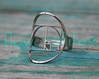 Fibonacci Golden ratio ring - Stainless Steel