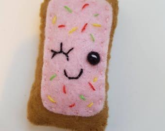Felt Toaster Pastry Magnet