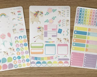 Pastel Unicorn Weekly Kit - for use with Erin Condren LIFEPLANNER(TM)