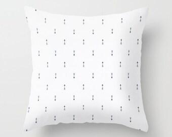Arrow Pillow Cover Navy Pillow Tribal Pillow Throw Pillow Mini Arrow Pillow White Pillow Decorative Pillow