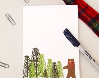 Winter Bear Notepad